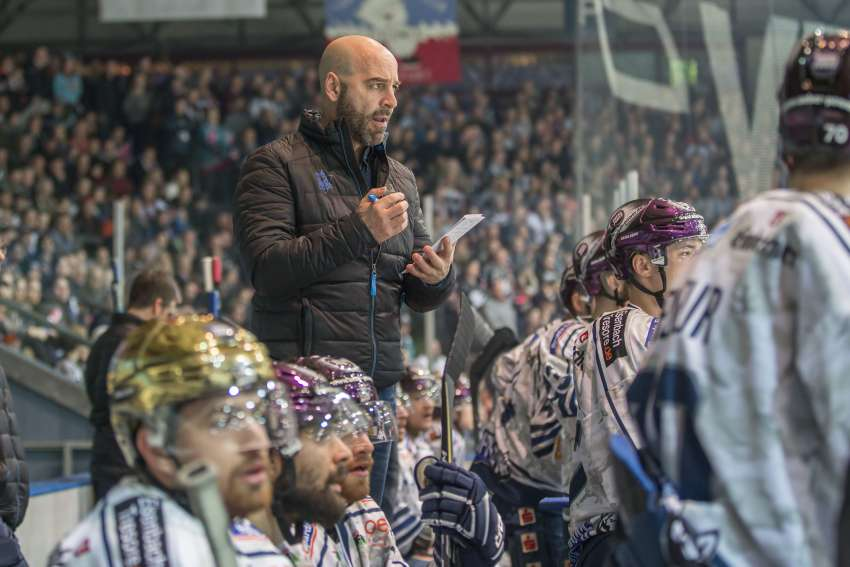 Huskies-Trainer Rico Rossi (picture alliance / bild pressehaus, picture alliance/KEYSTONE, Kassel Huskies)