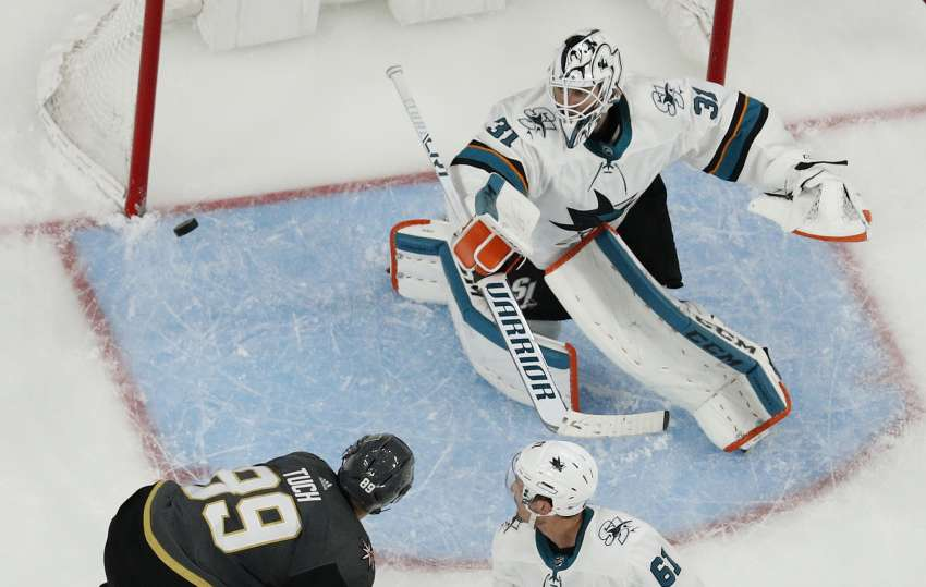 Martin Jones brachte die Vegas Golden Knights zur Verzweiflung. (Foto: dpa/picture alliance/AP Images)