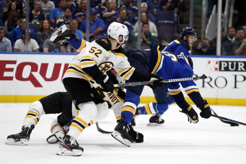 Die Boston Bruins brachten die St. Louis Blues zu Fall. (Foto: dpa/picture alliance/AP Photo)