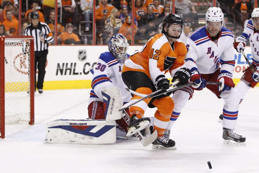 Jason Akeson spielte für die Philadelphia Flyers in der NHL. (picture alliance / AP Images)